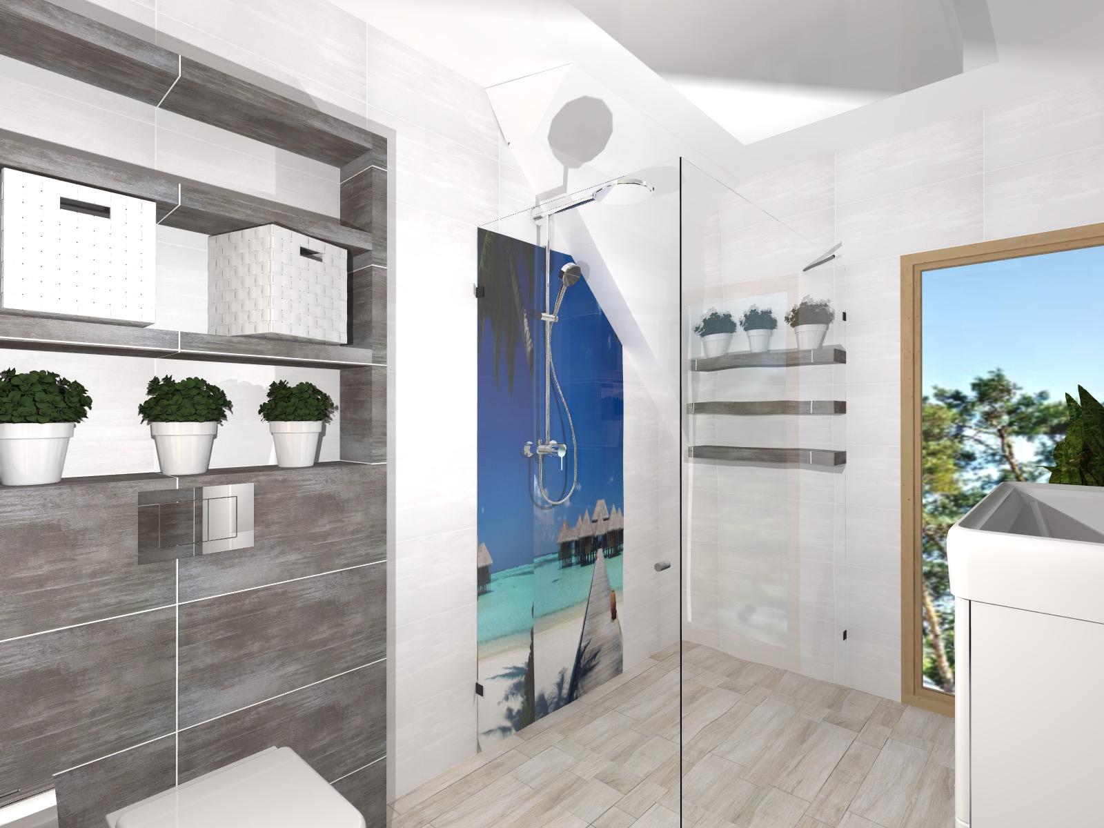 łazienka Z Fototapetą